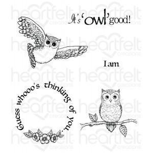 hcpc-3717 - It's Owl Good Cling Stamp Set