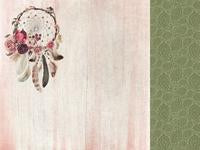 P2572 - Kaisercraft : Gypsy Rose 12x12 Scrapbook Paper - Free Spirit