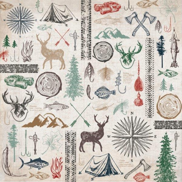 P2577 - Mountain Air 12x12 Scrapbook Paper - Outdoors