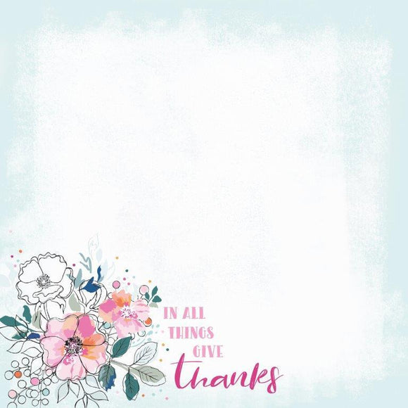 P2672 : Blessed 12x12 Scrapbook Paper - Give Thanks