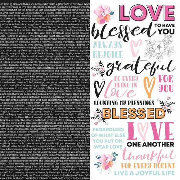 P2675 : Blessed 12x12 Scrapbook Paper - Have faith