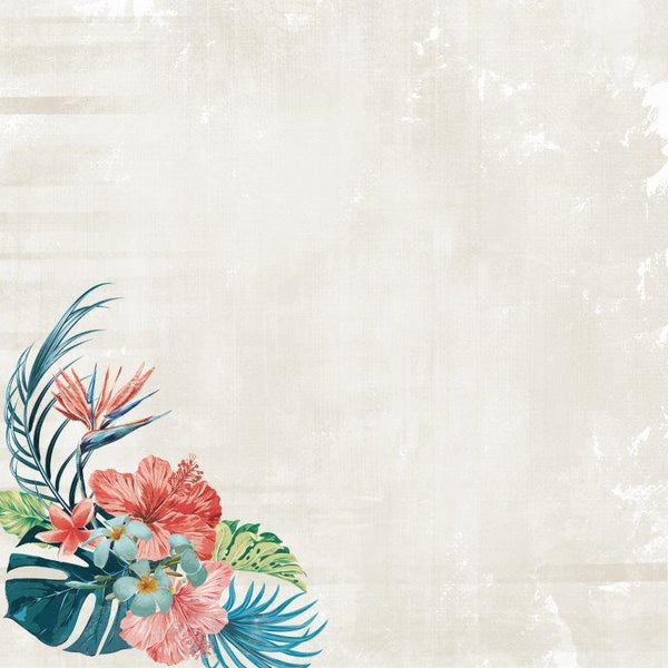 P2696 - Paradise Found 12x12 Scrapbook Paper - By the Sea