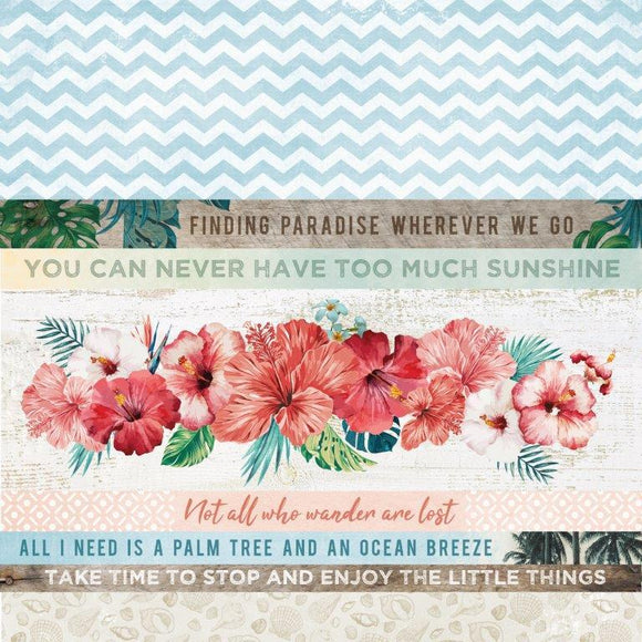 P2701 - Paradise Found 12x12 Scrapbook Paper - White Sands
