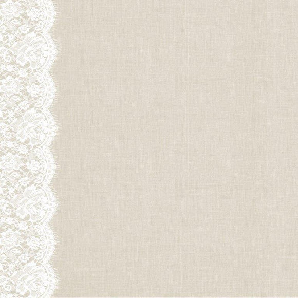 P2726 - Two Souls 12x12 Scrapbook Paper - Lace Trim