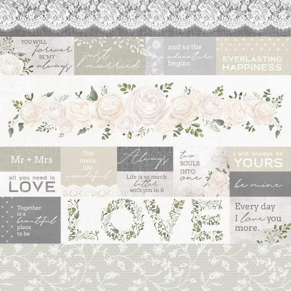 P2729 - Two Souls 12x12 Scrapbook Paper - My Heart