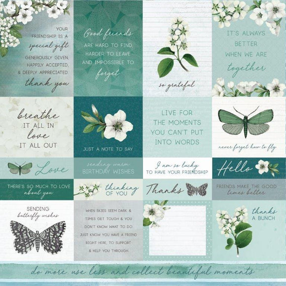 P2765 : Morning Dew 12x12 Scrapbook Paper - Refresh