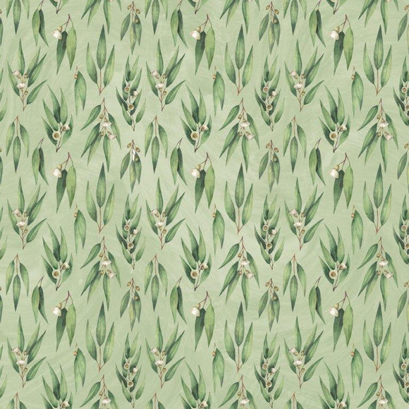 Kaisercraft : P2832- Under the Gum Leaves  12x12 Scrapbook Paper - Gum Leaves