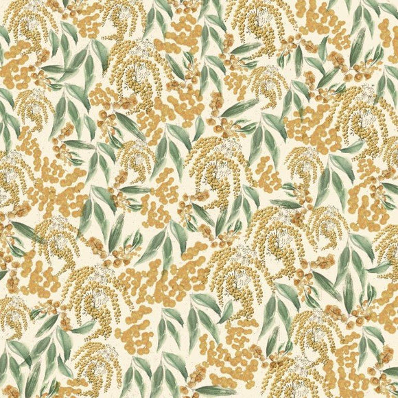 Kaisercraft : P2836.- Under the Gum Leaves  12x12 Scrapbook Paper - Wattle
