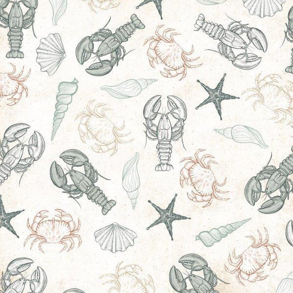 Kaisercraft : P2847 - Uncharted Waters 12x12 Scrapbook Paper - Oceanic