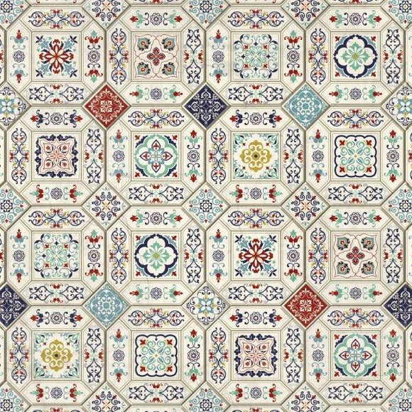 Kaisercraft : P2867 - Grand Bazaar 12x12 Scrapbook Paper - Ceramic Tiles
