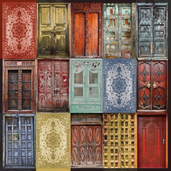 Kaisercraft : P2870 - Grand Bazaar 12x12 Scrapbook Paper - Doorway