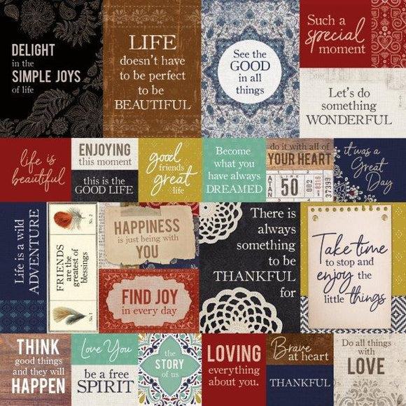 Kaisercraft : P2872 - Grand Bazaar 12x12 Scrapbook Paper - Free Spirited