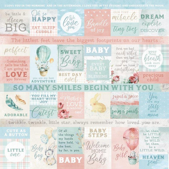 P2935 Kaisercraft - Little Treasures 12x12 Scrapbook Paper - Mother's Love