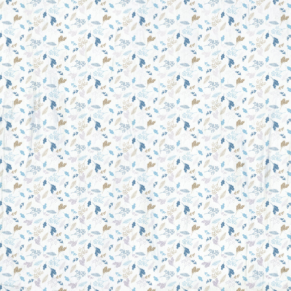 Kaisercraft : P2959 - Whimsy Wishes 12x12 Scrapbook Paper - SILVER BIRCH