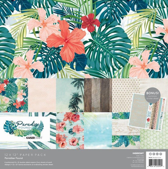 PK599 - Paradise Found Paper Pack with Bonus Sticker Sheet