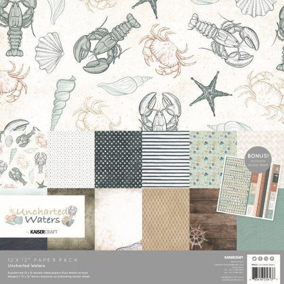 Kaisercraft : PK613 - Uncharted Waters Paper Pack with Bonus Sticker Sheet