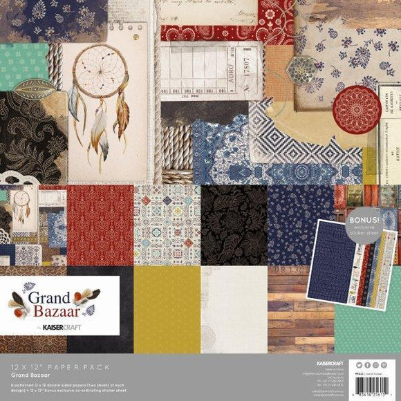 Kaisercraft : PK615 - Grand Bazaar Paper Pack with Bonus Sticker Sheet