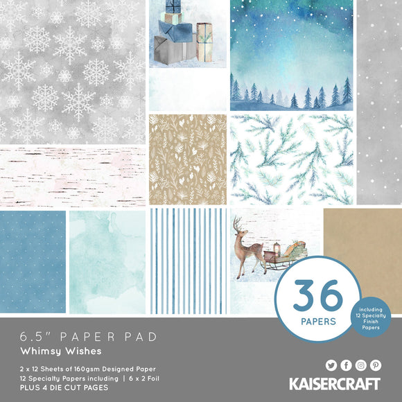 Kaisercraft : PP1092 - Whimsy Wishes 6.5 Paper Pad