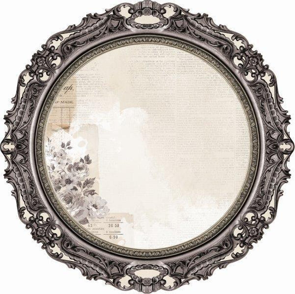 PS522 :  Kaisercraft   : Pen & Ink 12x12 Die Cut - Round Frame
