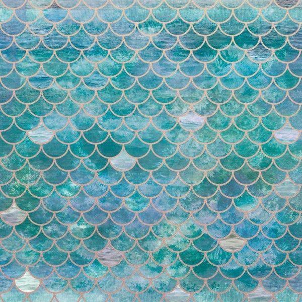 PS550 : Deep Sea 12x12 Foil - Mermaid Scales