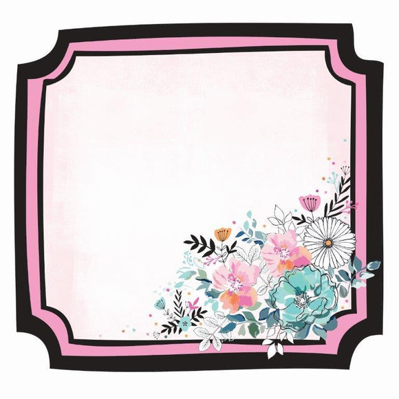 PS551 : Blessed 12x12 Die Cut - Floral Frame