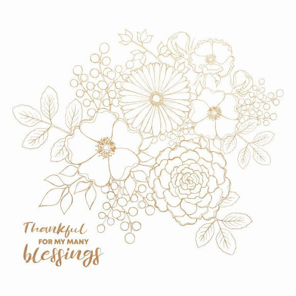 PS552 : Blessed 12x12 Foil - Bouquet