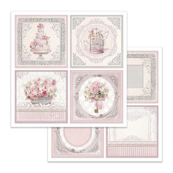 Stamperia - 12x12 SBB626 Wedding cards