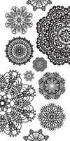 ST917 - Kaisercraft : Clear Stickers Doilies