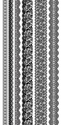 ST918 - Kaisercraft : Clear Stickers Lacey Borders