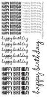 ST922 : Clear Stickers - Happy Birthday