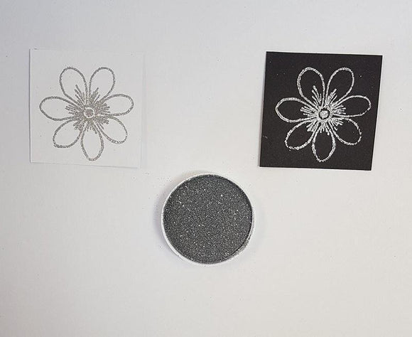 Embossing Powder - Silver Tinsel Small