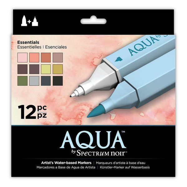 Spectrum Noir Aqua Markers (12PC) - Essentials