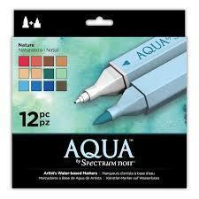 Spectrum Noir Aqua Markers (12PC) - Nature  ( NEW Package )