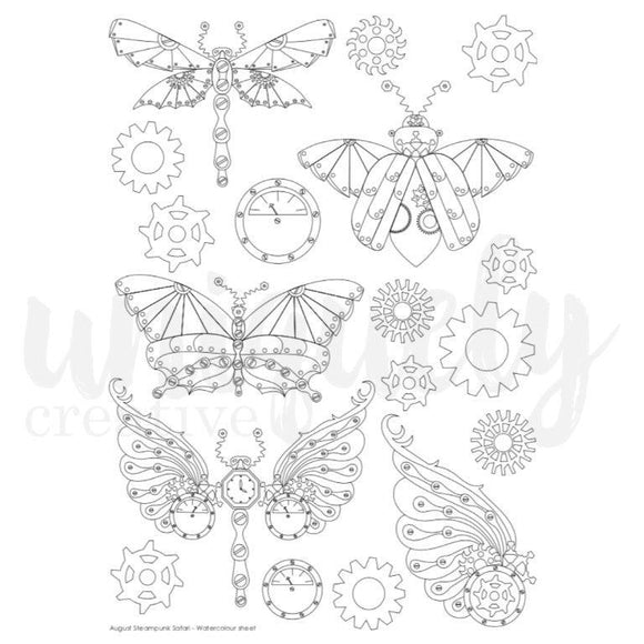 Watercolour Cut-A-Part Sheet - Steampunk Safari (Uniquely Creative)