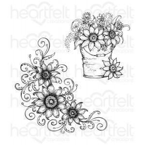 hcpc-3628 - Sunflower Bouquet Cling Stamp Set