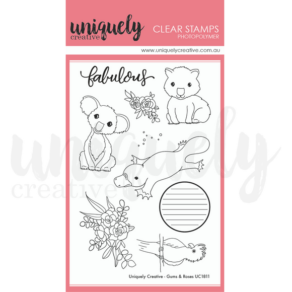 UC1811 : Gums & Roses Clear Stamp  (Uniquely Creative)