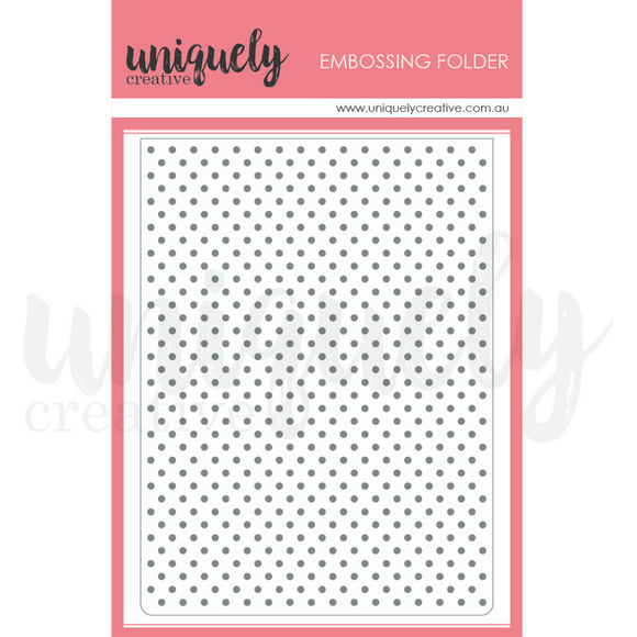 UCEF2001 : Polka Dots Embossing Folder  (Uniquely Creative)
