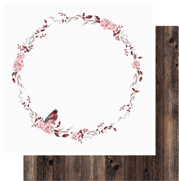 UCP2055 :  Wreath Paper - Winter Rose  (Uniquely Creative)