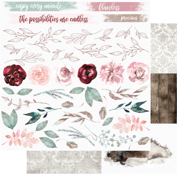 UCP2057 : Rose Paper - Winter Rose  (Uniquely Creative)