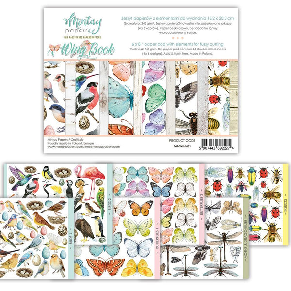 "Mintay MT-WIN-01 - 6""x8"" Wing Book Fussy Cutting Book"