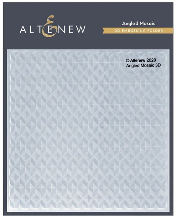 Altenew : ALT4697AM  - Angled Mosaic 3D Embossing Folder