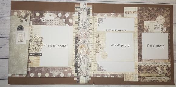 **INSTRUCTIONS ONLY** for 'Kaisercraft Pen and Ink' - Interactive Double Layout (SBK)  (By : Jenny Heaslip)