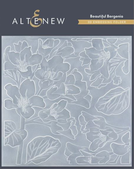 Altenew -3D Embossing Folder Beautiful Bergenia ALT4410