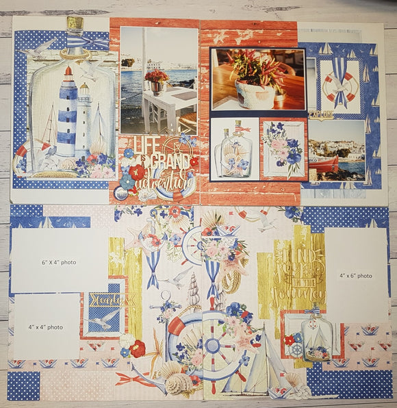 **INSTRUCTIONS ONLY** for 'Mintay Marina' - Interactive Double Layout  plus 2 x bonus pages (SBK) (By : Jenny Heaslip)