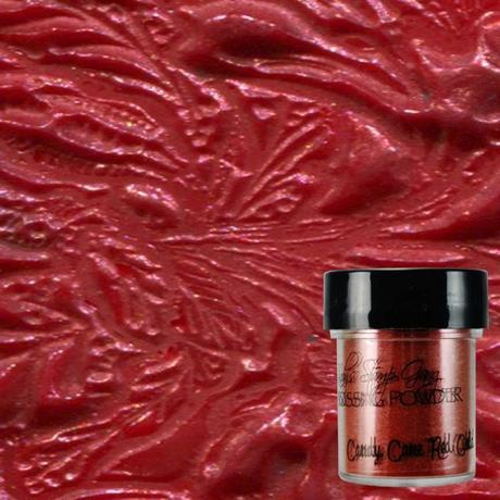 Lindys Stamp Gang Embossing Powder- Candy Cane Red Gold