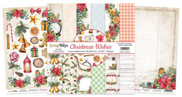 ScrapBoys - CHWI-08 12 x12 Paper Pack (Christmas Wishes)