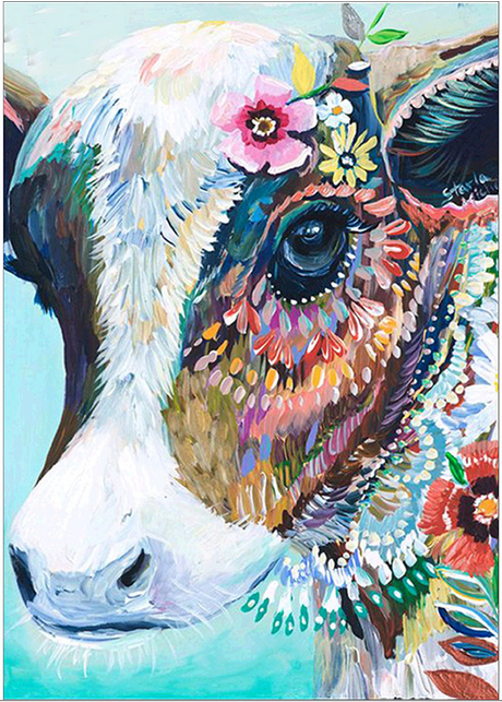 Diamond Painting #18 - Funky Cow