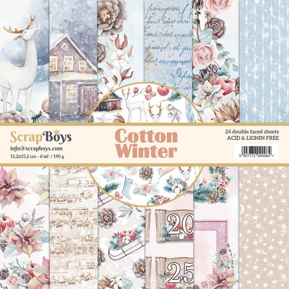 ScrapBoys - COWI-08 12 x12 Paper Pack (Cotton Winter)