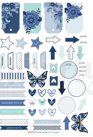 Cut Apart Sheet - Something Blue (Uniquely Creative)