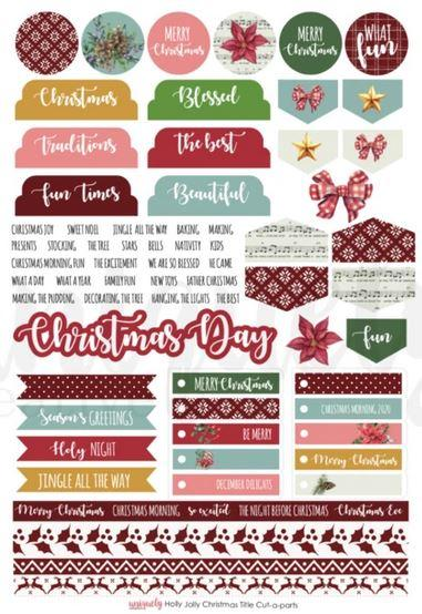 Cut Apart Sheet - Holly Jolly Christmas (Uniquely Creative)